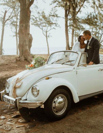 location coccinelle avec chauffeur pour un mariage lareunion